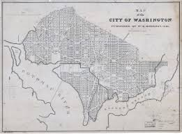 Maps Dc Large Scale Old Map Of The City Of Washington Dc 1840