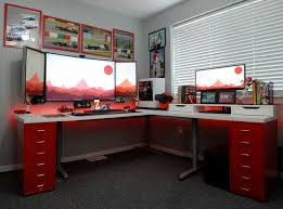 Best Pc Gaming Setup by Best 25 Desk Setup Ideas On Pinterest Office Accessories Beautiful