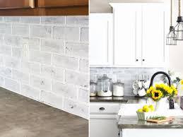 faux brick kitchen backsplash faux brick backsplash in kitchen inspirational a interior