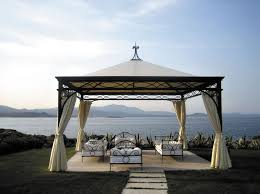 Outdoor Fabric For Pergola Roof by Wrought Iron Gazebo Fabric Roof Commercial For Hotels