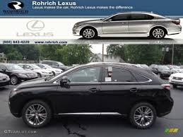 lexus rx 350 white black interior 2013 stargazer black lexus rx 350 awd 68469126 gtcarlot com