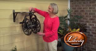 liberty garden wall mounted hose reel installation tutorial ii