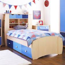 Boys Bed Frame Storage Bed Boys Single Bed With Stora Ashen Eye