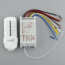 220v 4 channel light switch wireless digital remote l