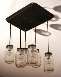 Light Fixture Ceiling Turning Jars Into Light Fixtures