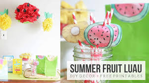 summer fruit luau how to make pineapple and watermelon party