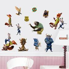 Tzootopia Animals Wall Stickers Decals For Kids Rooms Home - Animal wall stickers for kids rooms