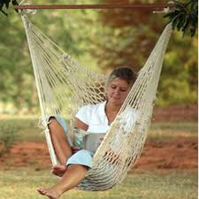 Tree Hanging Hammock Chair Deluxe Cotton Swing Chair Dfohome