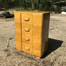 heywood wakefield from furniture stores in washington dc 1950s mid century vintage modern heywood wakefield maple tallboy high dresser art deco streamline by