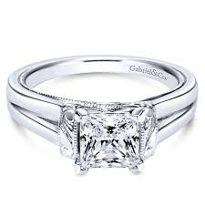 Solitaire Wedding Rings by Solitaire Engagement Rings With Princess Cut Diamonds Gabriel U0026 Co