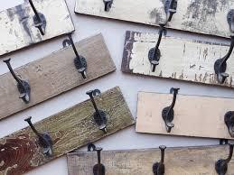 vintage wooden wall mounted coat rack coat hooks