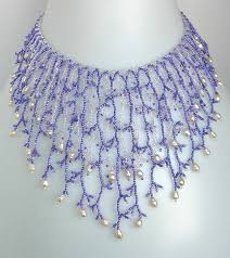bead necklace patterns images Pattern seed beaded necklace netting stitch tutorial jpg