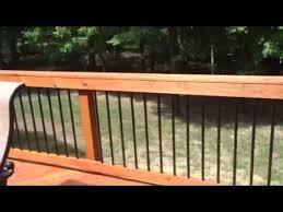 pressure treated wood deck with lattice and deckorator metal