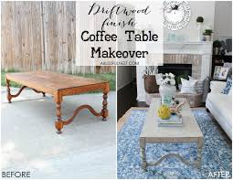 Weathered Wood Coffee Table How To Create A Weathered Wood Finish With Farmhouse Style
