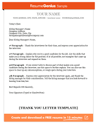 Letter For Sending Resume For Job by Thank You Letter Template Sample And Writing Guide Resume Genius
