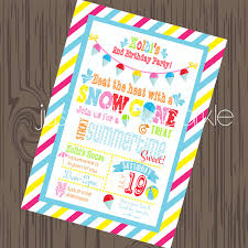how to make pool party invitations snow cone invitation diy pool party invite summer invitation