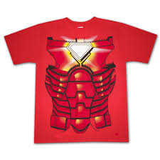 Red Shirt Halloween Costume Iron Man Costume Halloween Red Graphic Tee Shirt Superheroden Com