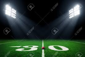 how tall are football stadium lights american football field at night with stadium lights stock photo