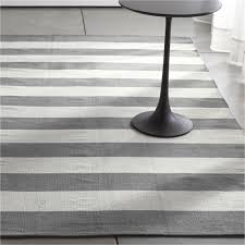 Crate And Barrel Indoor Outdoor Rugs Olin Grey Striped Cotton Dhurrie Rug Crate And Barrel