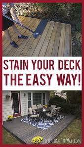 tricks to stain your deck quickly and easily i outdoor decor