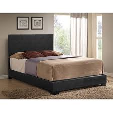 ireland full faux leather bed black walmart com