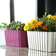 planters white window boxes planter self watering bunnings au