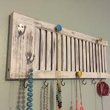 shutter jewelry rack shutter decor jewelry holder jewelry
