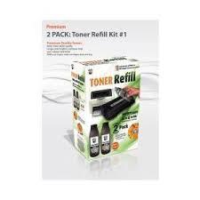 uni kit refill 1 for hp and canon 2 pack uni kit bulk toner