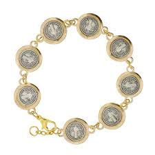 silver gold bracelet images St benedict silver gold bracelet the catholic company jpg