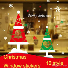wholesale christmas decorations wholesale christmas window stickers diy glass display window sticker