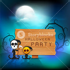 background for halloween banner or background for halloween party night with ghost and dead