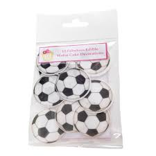 football cake toppers 24 edible football cake decorations cupcakes