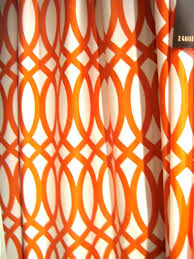 captivating orange curtains for decorating and covering ideas