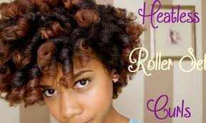 roller set relaxed hair how to do perfect curls with heat less roller set black hair