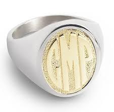 Gold Monogram Rings Signet Rings Monogram Rings Gold Signet Rings Gold Vermeil