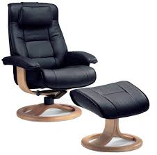 Brown Leather Chair With Ottoman Fjords Mustang Ergonomic Leather Recliner Chair Ottoman