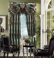 living room fancy valances for living room with green wall design