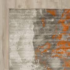 large image for square area rugs 6x6 burnt orange rust wool area