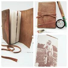 Outdoorsman Home Decor Hand Crafted Leather Bound Journal Outdoorsman Diary Hunter