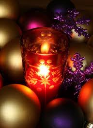 Purple Gold Christmas Decorations Creative U0026 Inspiring Modern Christmas Candles Decorations Ideas