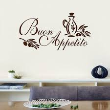 sticker citation cuisine b1 buon appetito mur autocollant italien citation cuisine