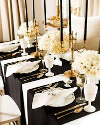 Decorating Luxury Black And White New Years Eve Party Decoration