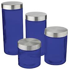 contemporary kitchen canister sets anchor hocking callista 4 glass canister set stainless