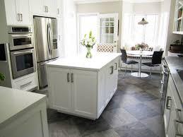 grey kitchen white floor kitchen and decor