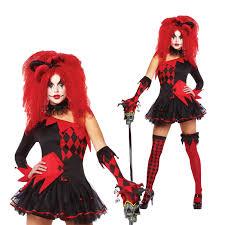 ladies clown halloween costumes womens jesterina halloween circus clown fancy dress ladies