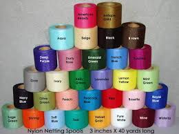 spools of tulle netting spools for crocheted scrubbies