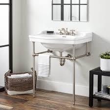 Console Bathroom Sinks Cierra Console Sink With Brass Stand Bathroom