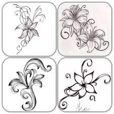 simple flower drawing cutting transferring etc designs