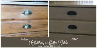 honey i u0027m home refinishing a coffee table