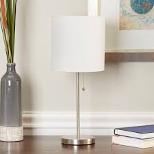 End Table Lamp Combo Mainstays Stick Table Lamp With Shade Cfl Bulb Included Walmart Com